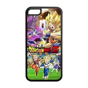 LJF phone case LeonardCustom Protective Hard Rubber Coated Phone Cover Case for iPhone 5C , Dragon Ball Z -LCI5CU224