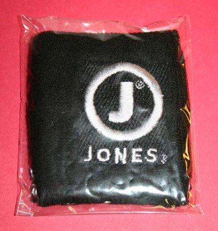Jones Soda Co. Embroidered Black Wristband / Sweatband