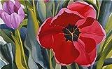 Toland Home Garden Tulip Garden 18 x 30 Inch Decorative Floral Floor Mat Spring Flower Doormat