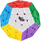 HJXDJP 鮮やかな色のステッカーなし テラミンクス 十二面体 メガミンクス スピードキューブ、 競技專用マジックキューブ 滑らかな回転 調整可能な立体パズルキューブ