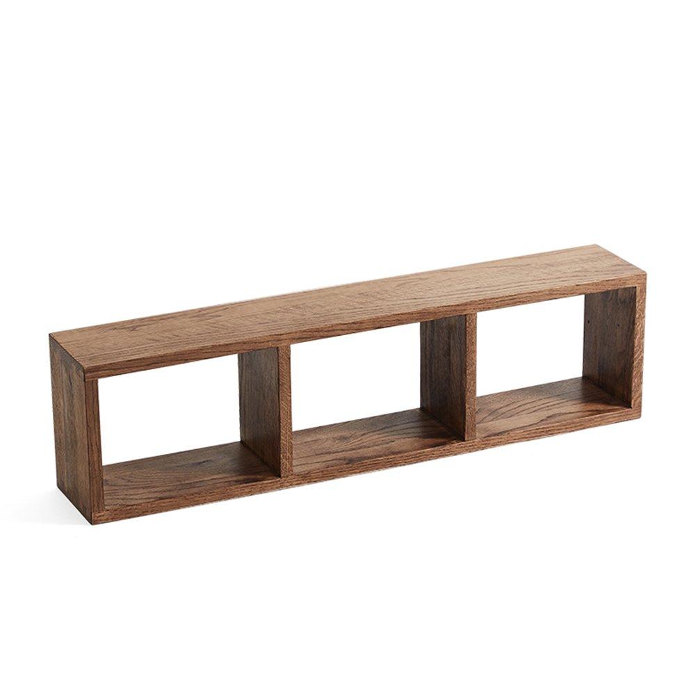 LIANGJUN ウォールラック 無垢材 ストレージ 背景壁 リビングルーム、 使用可能な3つのサイズ ( 色 : Oak-brown-90cm ) B07BHK57D6 14445 Oak-brown-90cm Oakbrown90cm