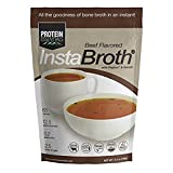 Protein Essentials InstaBroth (Beef) with Peptan Collagen - Gelatin - Protein - Nutrition - For the Digestive System - Joint Pain Relief - Health and Wellness - Soup