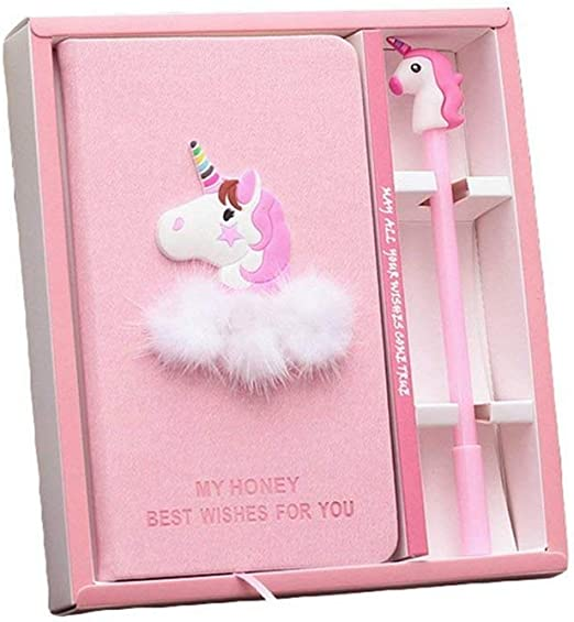 Licorne Rose ordinateur portable Box Set Agenda avec stylo à encre ...