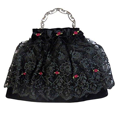 Sinister Tasche Red Rose mit Metallbügel cYLzkalyH