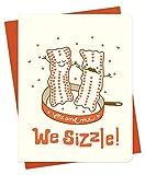 Bacon Letterpress Love Card by Night Owl Paper Goods