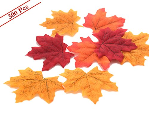 Artificial MerryNine Multicolor Decorations Leaves 300pcs