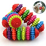 Puppy toy,NNDA CO Colorful Rubber Pet Dog Puppy Dental Teething Healthy Teeth Gums Chew Toy Tools,1 Pc(12cmx4cm)