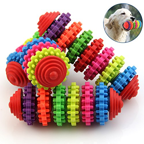 Price comparison product image Puppy toy, NNDA CO Colorful Rubber Pet Dog Puppy Dental Teething Healthy Teeth Gums Chew Toy Tools, 1 Pc(12cmx4cm)