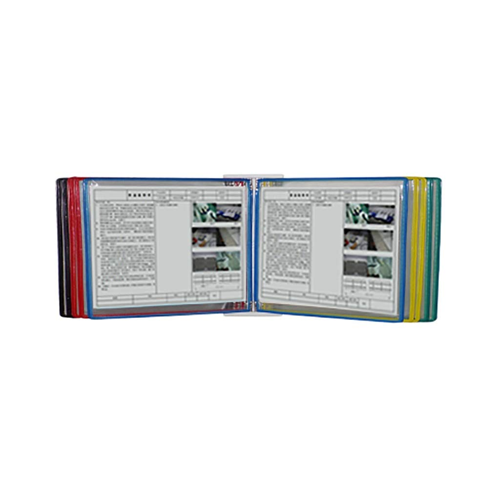 Flip File Holder, Wall-Mounted Magnetic Display (PVC+Metal) 35.524.58CM