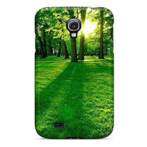 Galaxy S4 EcJUbus4274MTIed Green Forest Tpu Silicone Gel Case Cover. Fits Galaxy S4 by icecream design