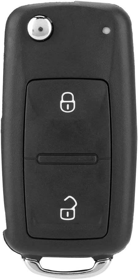 Gorgeri ABS 2 botones plegable Flip remoto Reemplazo de llave Caja negra Cubierta de carcasa Ajuste para IV POLO TRANSPORTER