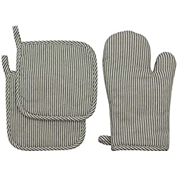 Oven Mitt & Pot Holders Set