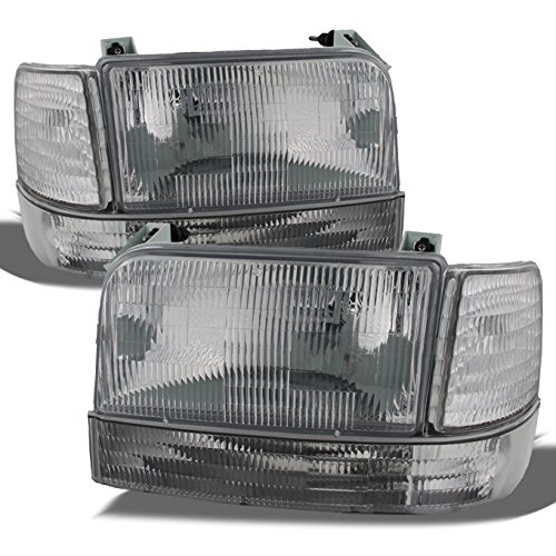 For Ford Bronco F150 F250 F350 OE Replacement Headlights Corner Signal Bumper Lamps Driver/Passenger Set ()