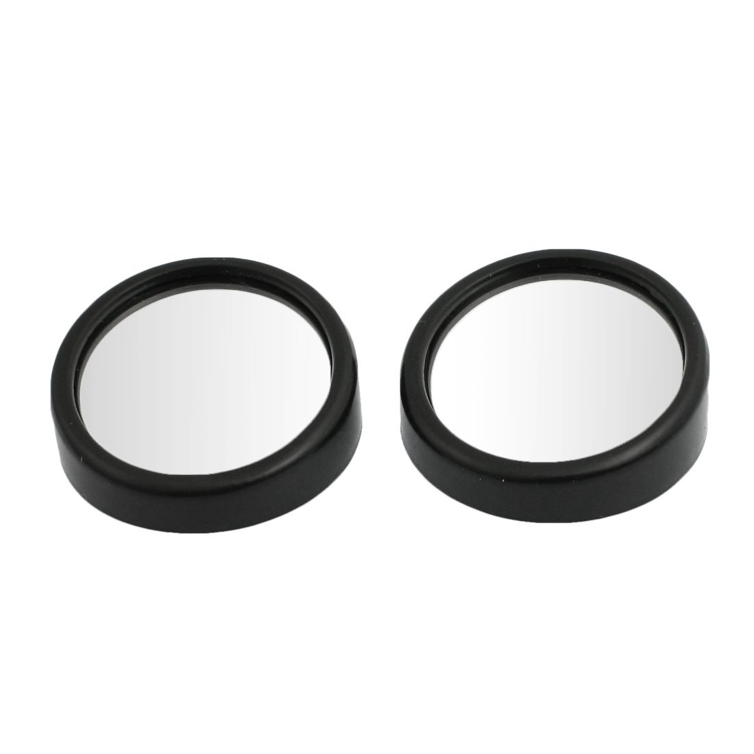 uxcell® Car Auto Truck 2.2' Round Wide Angle Blind Spot Mirror Black 2 Pcs