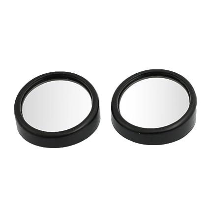 Sourcingmap 5,5cm Ajustable Negro Redondo Espejos de Angulos Muertos para Camión