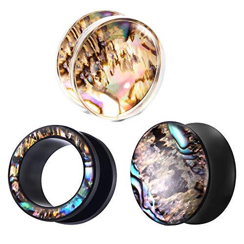 3 Pairs Acrylic Bell Ear Plugs Gauges Earrings 00g Plugs Ear Tunnels Ear Gauge (16mm=5/8'') ()