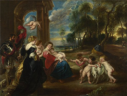 'the Studio Of Peter Paul Rubens The Holy Family With Saints In A Landscape ' Oil Painting, 20 X 27 Inch / 51 X 68 Cm ,printed On Perfect Effect Canvas ,this High Quality Art Decorative Prints On Canvas Is Perfectly Suitalbe For Gift For Bf And Gf And Home Artwork And Gifts - Nerdy Halloween Costumes 2016