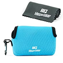 MegaGear ''Ultra-Light'' Neoprene Camera Case, Bag - Protective Cover for Sony Cyber-shot DSC-RX100 V, DSC-RX100 IV, Olympus Tough TG-4, TG‑5 - with Carabiner for Easy Carrying (Blue)