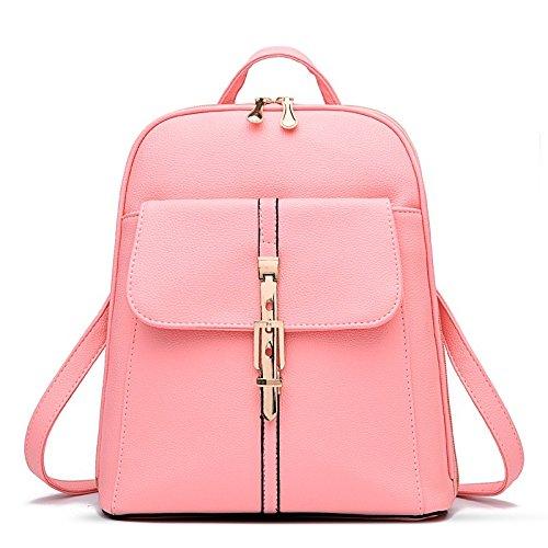 Mefly Bolso Bandolera De Moda Mujer Estudiantes Coreanos Ocio Rosa Roja Pink