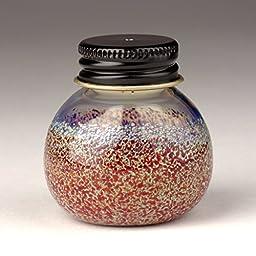 Handmade Blown Glass Screwcap Hemp Wick Dispenser - Red/Silver +Bonus 20ft Wick!