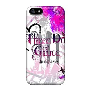 Shock Absorption Hard Cell-phone Case For Iphone 5/5s (Dkz8227ezdO) Unique Design Attractive Three Days Grace Pictures