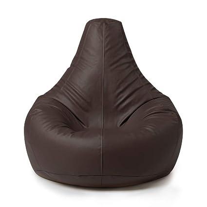 Poltrona Sacco Napoli.Bean Bag Bazaar Poltrona Sacco In Similpelle Ecopelle Sedia A Sacco Poltrone Sacco Di Design Reclinabile Marrone