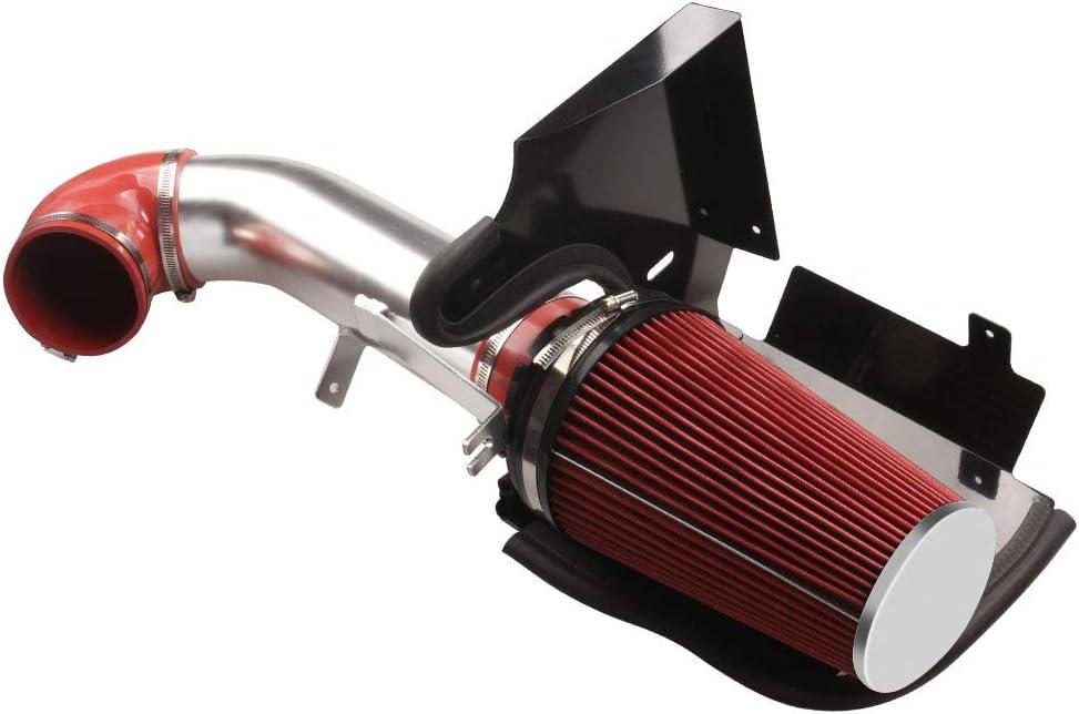 MOOSUN 4 inch Cold Air Intake Black Tube Heat Shield for 1999-2006 GMC//Chevy V8 4.8L//5.3L//6.0L Silverado 1500//2500//3500 Black