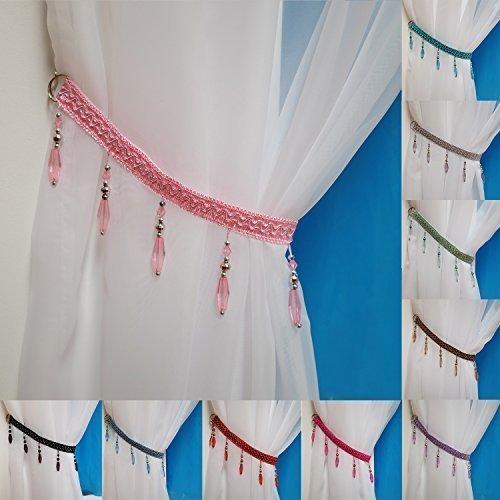 Pink Curtain Tie Backs Amazon Co Uk
