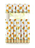 Carol Wright Gifts Kitchen Curtain and Valance Set, Color Sunflower, Sunflower