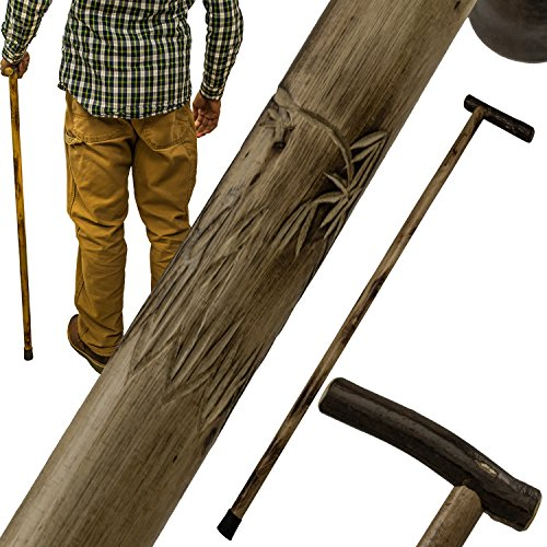 (Wolf Carving 38 Inch Walking Cane Hiking Stick)