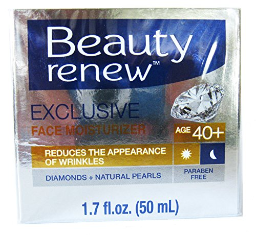Beauty Renew 40+ Exclusive Day & Night Face Moisturizer Cream Diamonds+ Natural Pearls 1.7 fl. oz. -  DC SP, B01H7WE4Q4