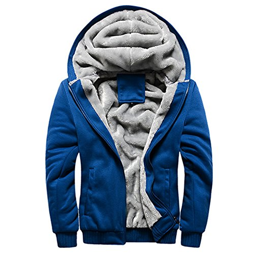 - Guandoo Mens Sherpa Lined Full Zip Fleece Hoodie Jacket Coat