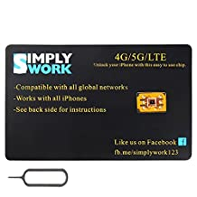 SimplyWork Unlock SIM for iPhone ALL Canadian Networks Fido/Rogers/Bell/Telus/Videotron/Freedom with 4GLTE