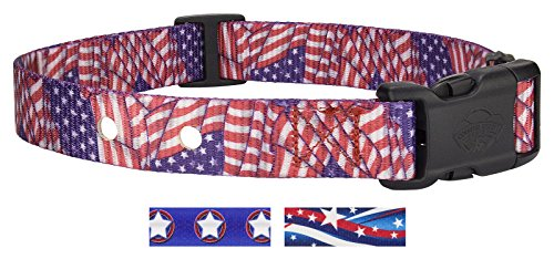 Country Brook Design Patriotic Tribute Replacement Collar for Fence Receivers