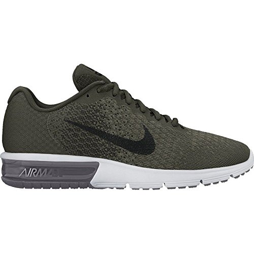 NIKE Men's Air Max Sequent 2 Running Shoe (8.5 D(M) US, Cargo Khaki/Black-Medium Olive) by Nike