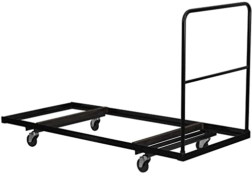 Flash Furniture Black Folding Table Dolly for 30 W x 72 D Rectangular Folding Tables