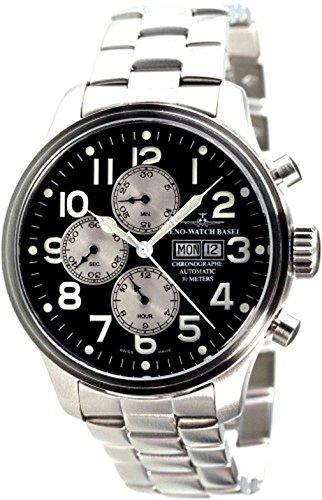 Zeno-Watch Mens Watch - OS Pilot Chronograph Day-Date - 8557TVDD-b1M