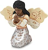 Elements In Faith Ebony Angel Figurine by Pavilion, 3-1/2-Inch, Praying