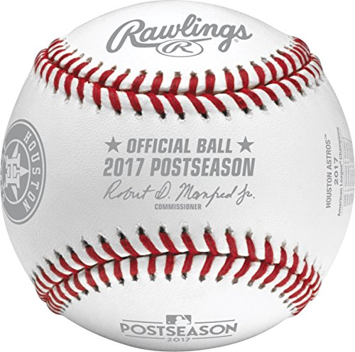 Houston Astros 2017 American League Champions Official Rawlings Baseball With Display - League Rawlings Baseball American