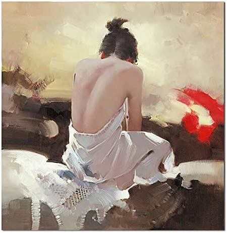 Xiaoxinyuan 100 Handpainted Abstract Oil Painting Human Body Art Nude Woman Wall Pictures Painting Living Room Home Decor 75 75cm Amazon Co Uk Kitchen Home
