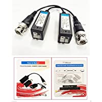 Wennow 50 Pairs HD CCTV Via Twisted Video Balun Transmitter for CVI/TVI/AHD CCTV