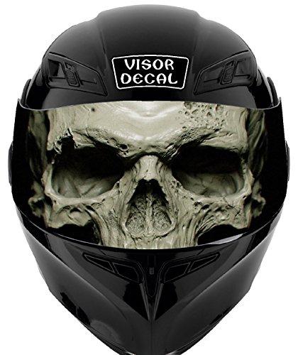 - V34 Skull VISOR TINT DECAL Graphic Sticker Helmet Fits: Icon Shoei Bell HJC Oneal Scorpion AGV