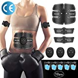 Hommie Muscle Toner Stimulator, Abdominal Toning Belt EMS Abs Trainer Wireless Portable Body Gym...