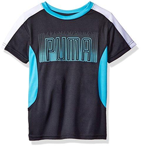 PUMA Big Boys' Athletic Tee Shirts, Coal, Small (8)