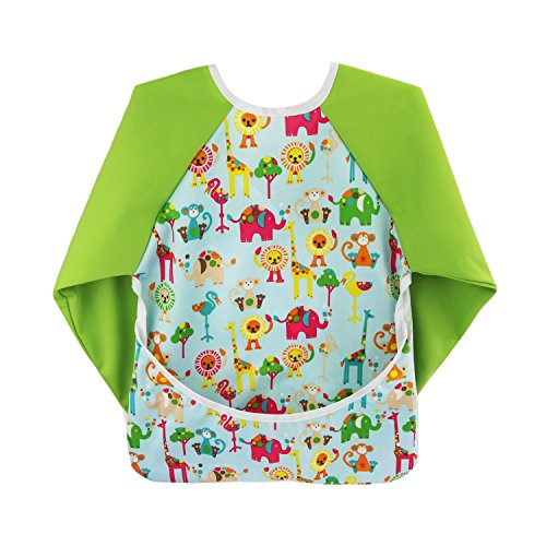 hi-sprout-unisex-infant-toddler-baby-super-waterproof-sleeved-bib-reusable-bib-with-sleeves-pocket-3