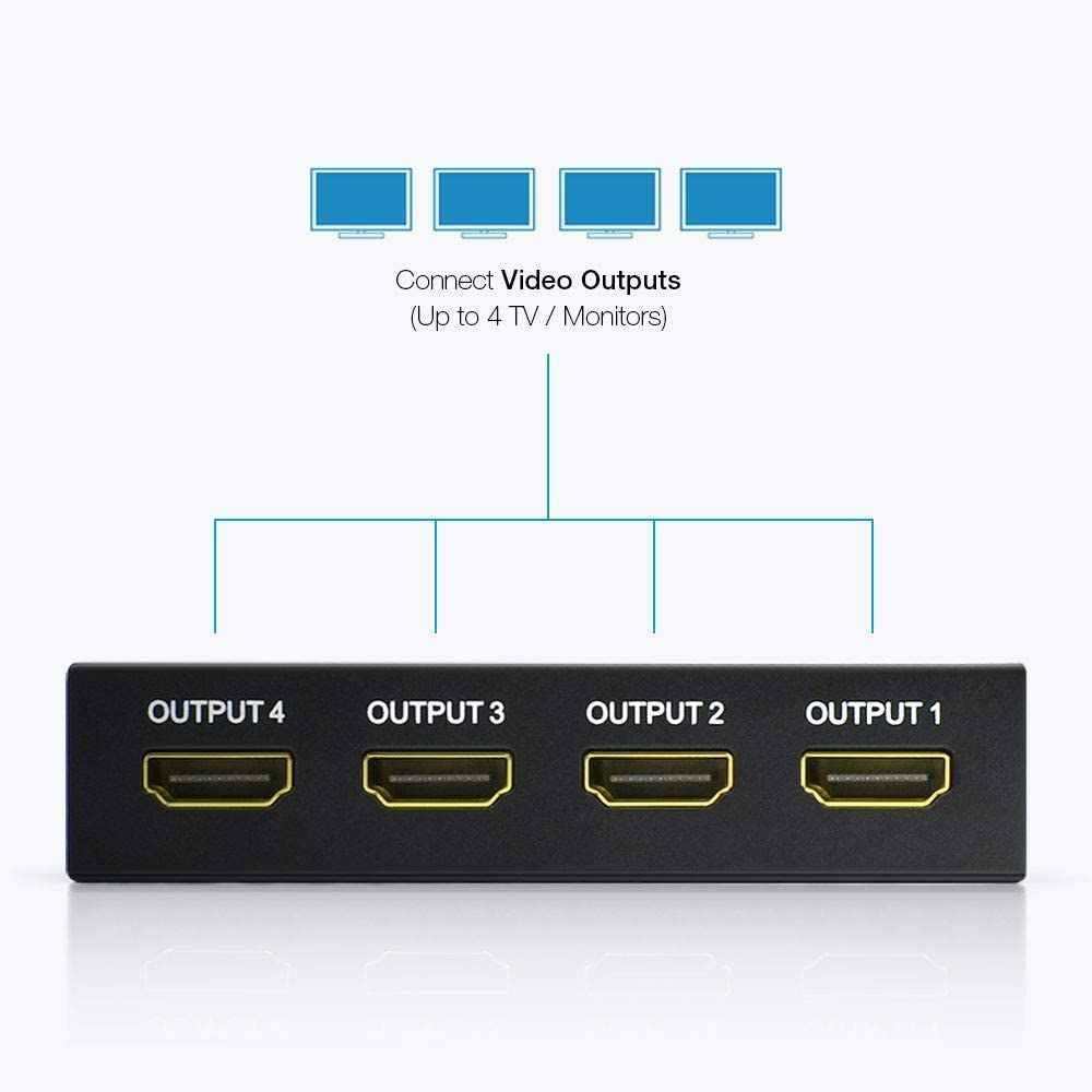 Vkband Hdmi Splitter 1 To 4 Output V1 4 Powered 1x4 Elektronik