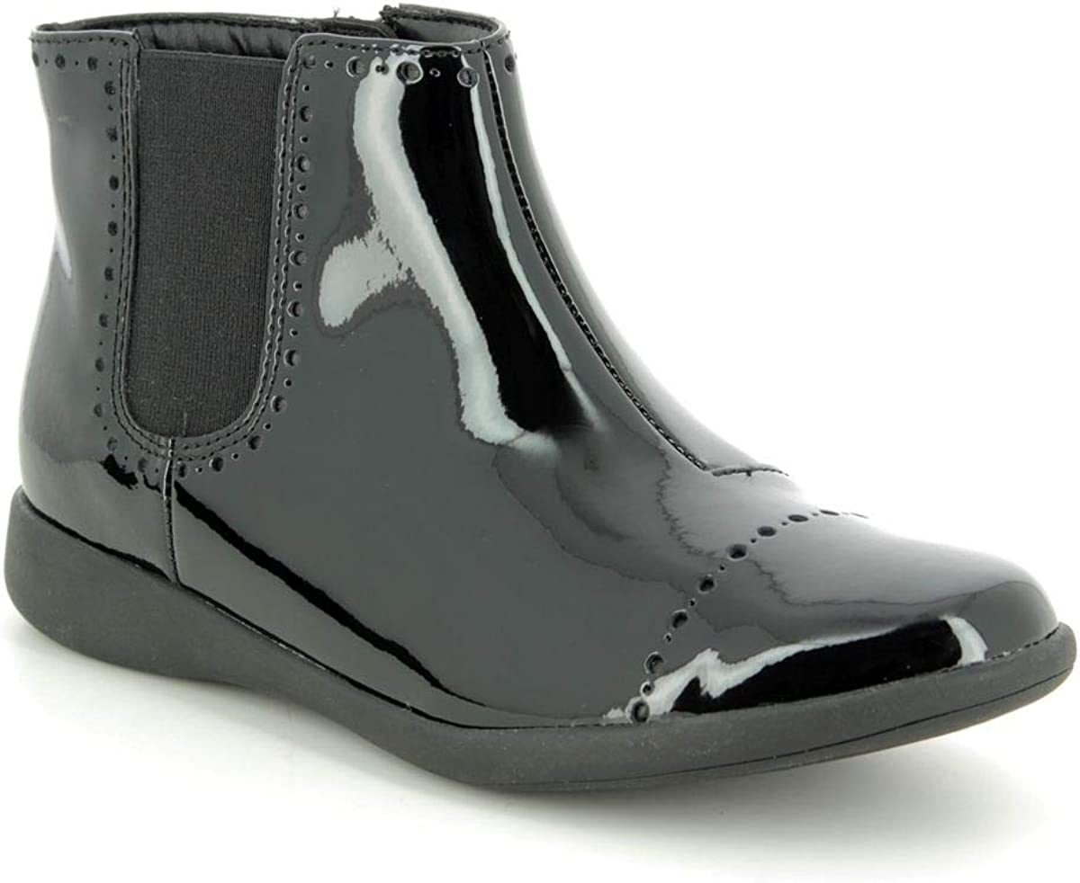 Clarks Etch Form Kid Patent Boots in