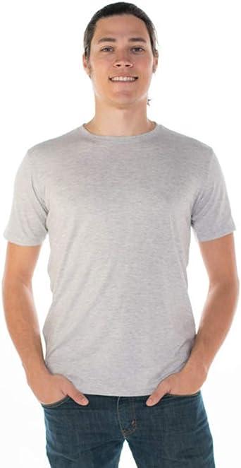 Mens Continental Summer Crew Neck T-Shirt Top Tee Cotton Light White  Sz S,M,XL