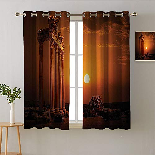 (Suchashome Curtain Kids Grommets Decor Darkening Curtains Print Darkening Curtains pop Darkening Curtains Room Darkening Curtains(2 Pieces, 27.5