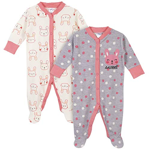 Gerber Baby Girls 2-Pack Thermal Sleep 'N Play